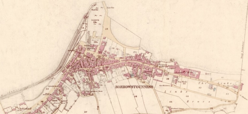 1856 Map of Bo'ness