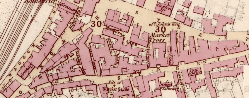 1856 Map showing South Street and North Street