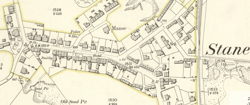 Map of Stane, Cambusnethan c.1897