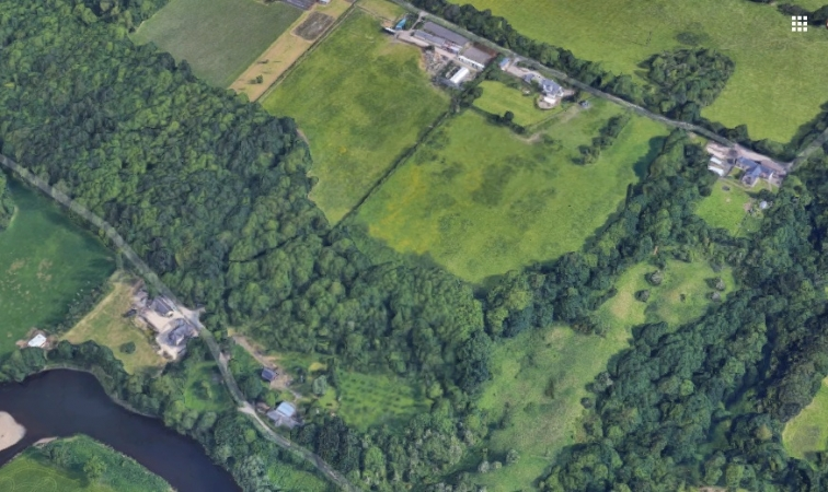 Modern aerial view of Belmont and Wemysshill Orchards