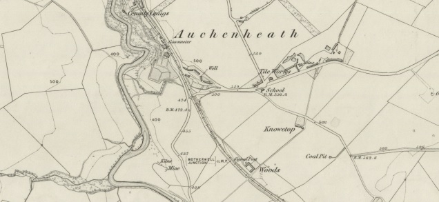 1858 Map showing location of Knowetop