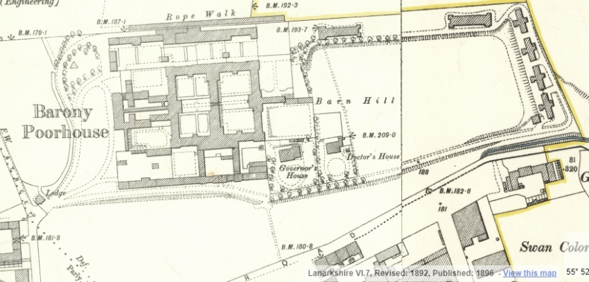 1898 Map showing Barnhill Poorhouse
