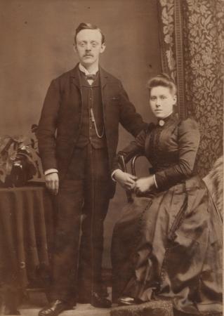 William Hamilton McKay and Jeanie Stewart Brown on their wedding day.