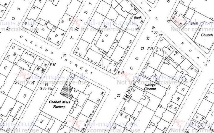 1953 Map showing locations of 9 Cleland Street and 144 Crown Street.