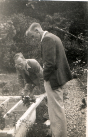 James and John Macartney discuss a horticultural issue.