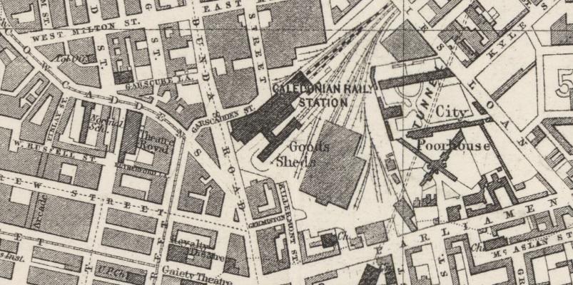 1882 Map showing location of Garscadden Street.