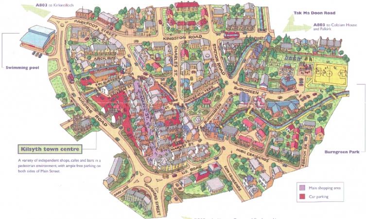 Kilsyth Tourist Map