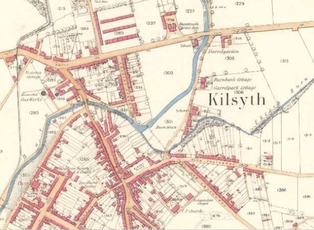 Map showing location of KIngston Rows.