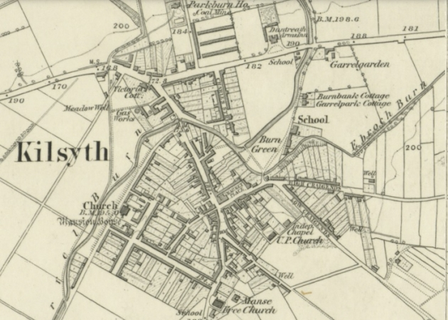 1865 Map of Kilsyth