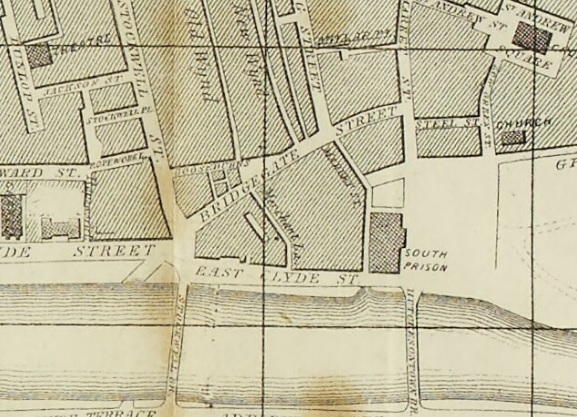 1857 Map showing Bridgegate Street