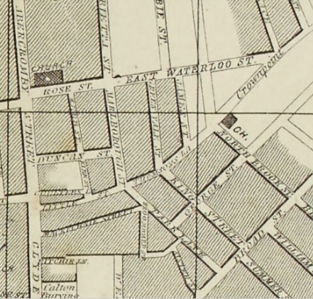 1857 Map showing Greenvale Street in Bridgeton