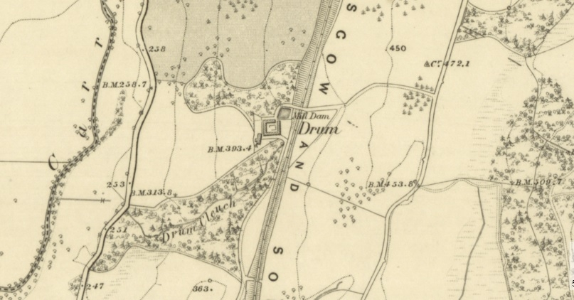 19th Century Map showing location of Drum Farm.
