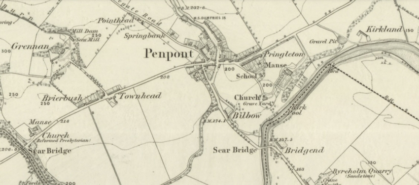 1860 Map showing Penpont