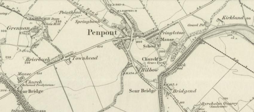 1860 Map showing Penpont