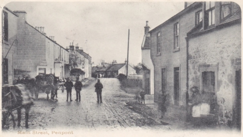 Penpont Main Street at the Cross c.1905