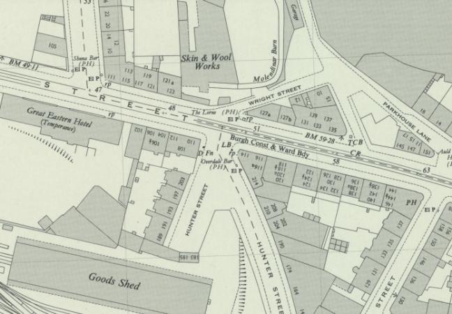 Location of 214 Hunter Street at Duke Street in Glasgow