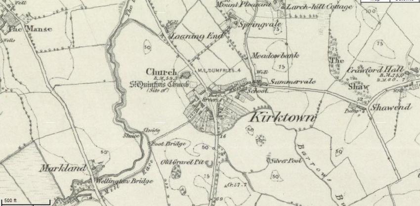 1851 Map of Kirkton