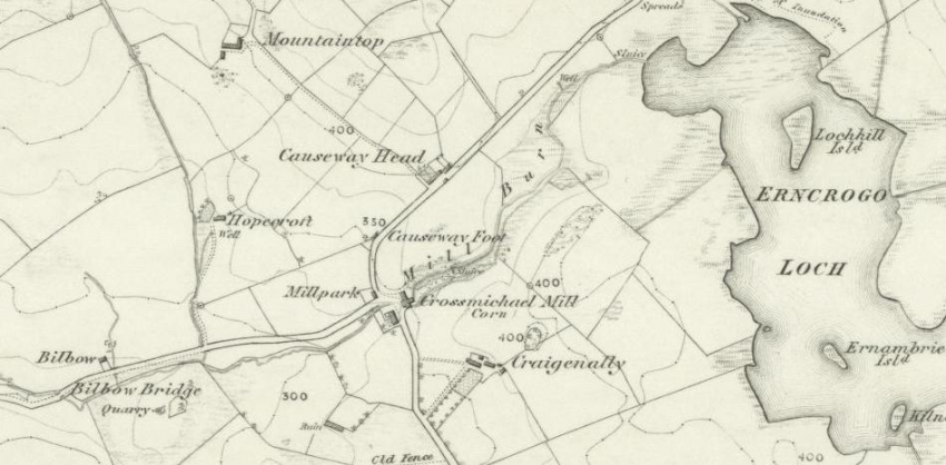 1850 Map showing location of Causeway Head