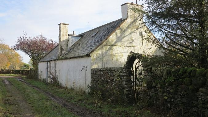 Modern day view of the farm house at Meikle Larg.