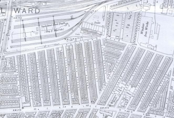 1906 Map showing Wilfer Street