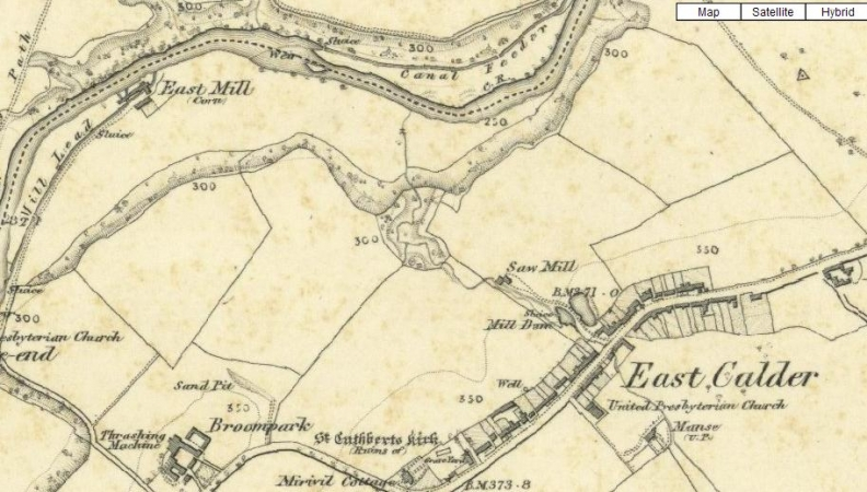 1865 Map of East Calder