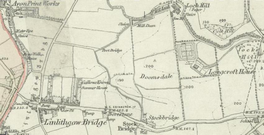 1856 Map of Linlithgow Bridge