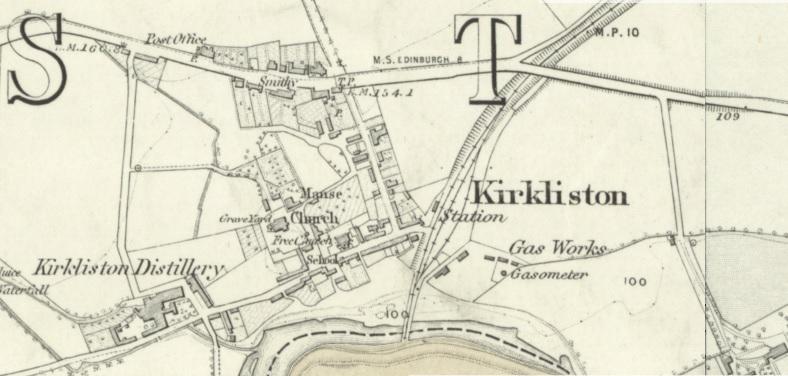 1856 Map of Kirkliston Village