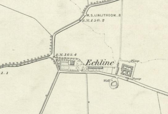 1855 Map of Echline Farm, Dalmeny Parish