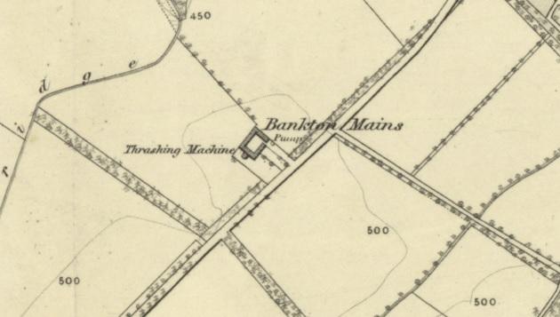 1855 Map showing Bankton Mains Farm in Mid Calder Parish