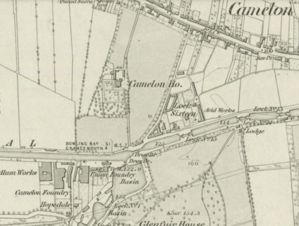 1860 Map showing Lock 16 area.