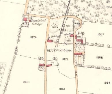 1860 Map showing Greenbank