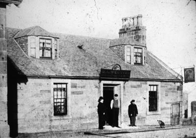 Blue Bell Inn, Camelon.  The sign above the door reads 'M L Webster, Spirits, Porter and Ales'.