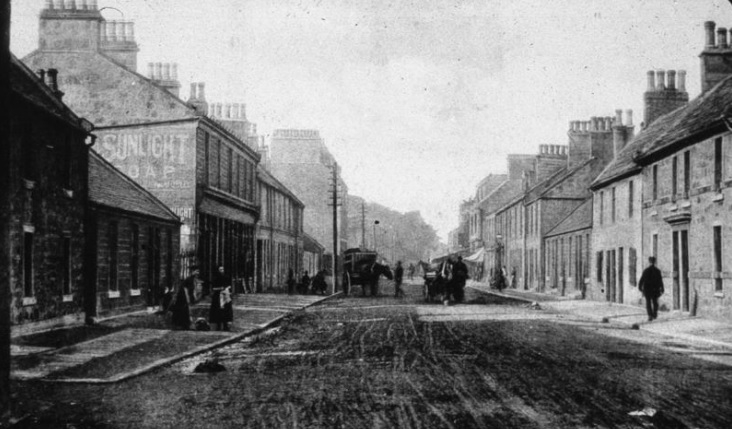 1896 view of Camelon Main Street facing west.