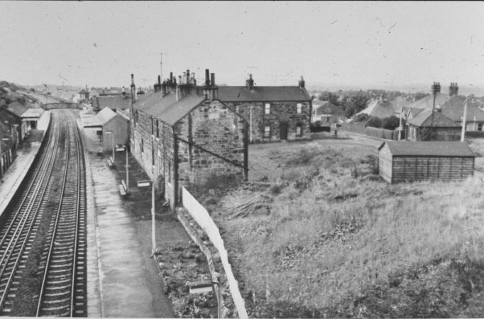 Railway Company Houses, High Station, Falkirk in 1965