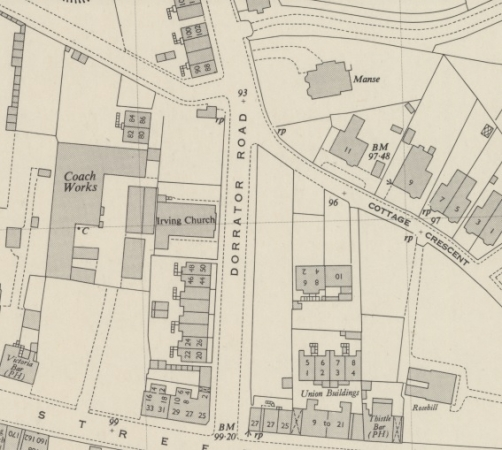 1950 Map showing the location of 90 Dorrator Road (top centre).