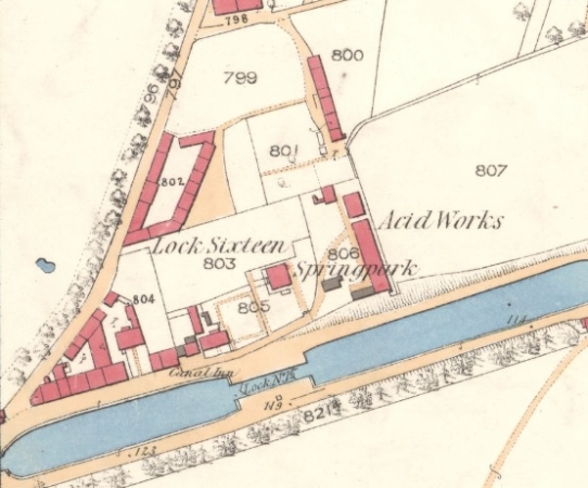 1860 Map showing the parallelogram-shaped George Square.