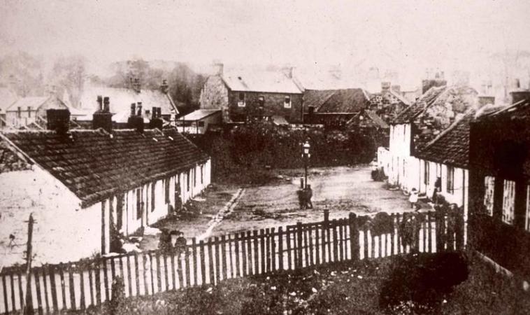 Pre-1905 photo of George Square in Camelon.