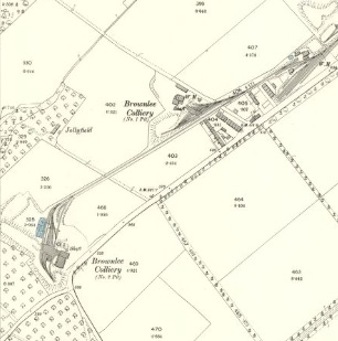 1896 Map showing Brownlee Colliery