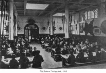 Queen Victoria School Dining Room 1914