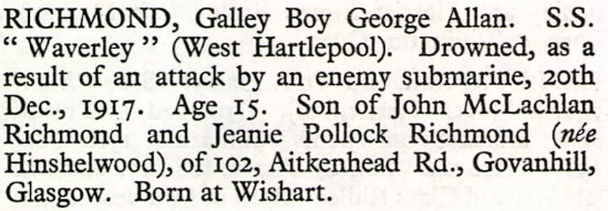 1917 Notice of the drowning of George Allan Richmond