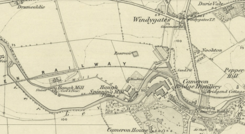 1854 Map showing Haugh Mill