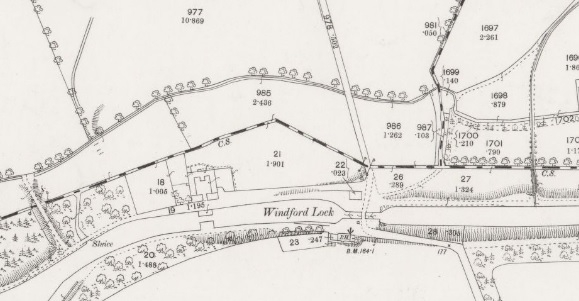 1859 Map of Wyndford Lock, birthplace of Peter Chalmers in 1857.
