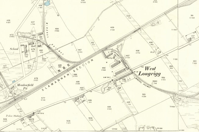 1896 Map showing West Longrigg