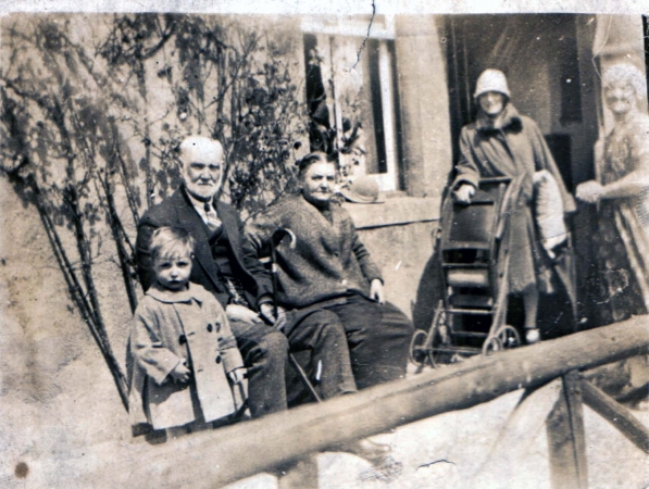Young Bobby Abercrombie with his grandparents.