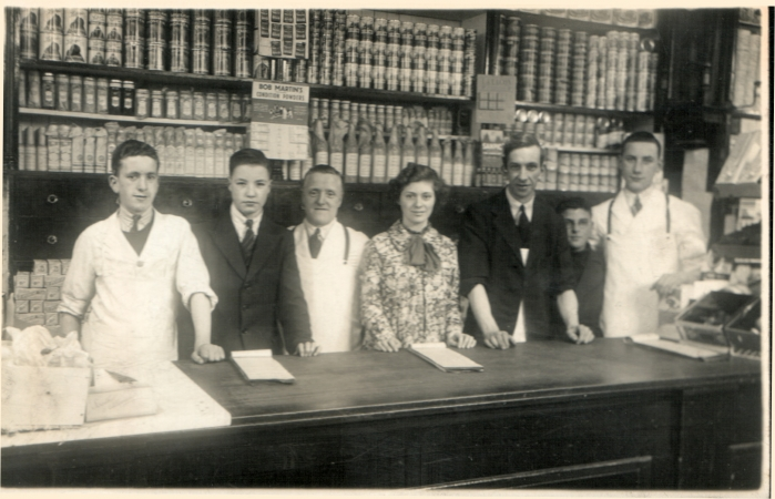 Grocery staff with Bobby second from left.