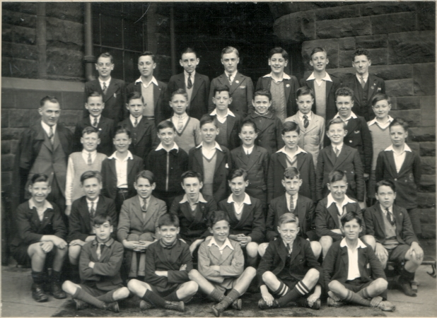 Strathbungo Secondary School (c.1938)  Bobby is second row down and third from right.