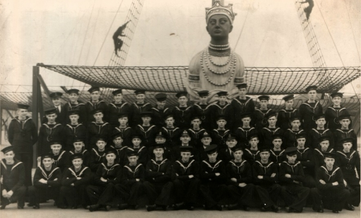 Trainees on board HMS Ganges (1943)